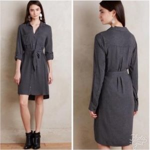 Clothe & Stone gray flannel shirt dress
